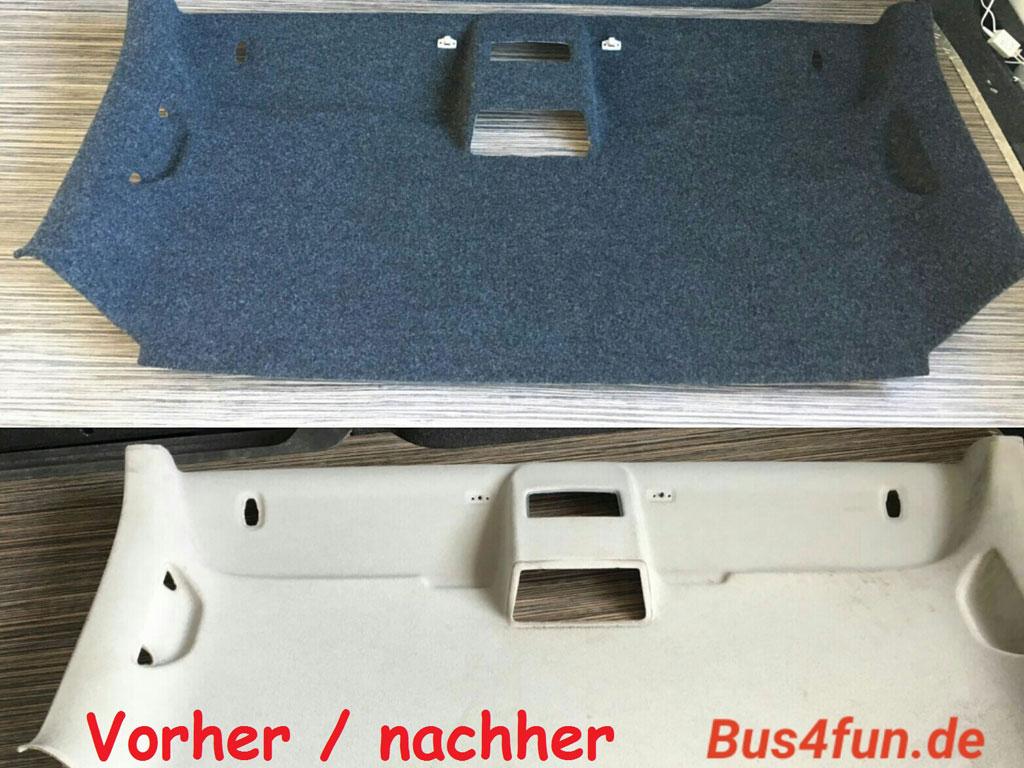 Vorher-Bild und Nachher-Bild B4f Carpet-Filz für Fahrerdach