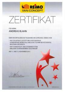 Zertifikat Reimo für Dachumbau