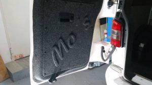 VW Bus Innenverkleidung Flügeltür mit 3D-Druck Carpet Filz von Bus4Fun