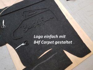 B4f Carpet-Filz als Logo