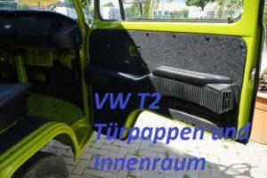 VW T2 Bulli mit B4f Carpet-Filz Anthrazit im Innenraum