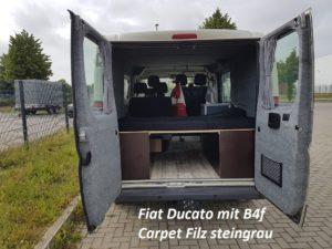 Fiat Ducato mit B4f Carpet-Filz Steingrau