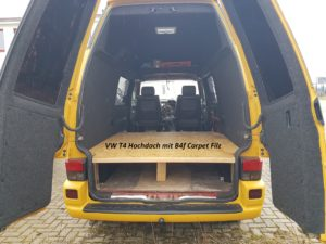VW T4 Hochdach mit B4f Carpet-Filz Anthrazit