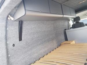 B4f Carpet-Filz im VW T5 Hochdach inklusive Dachschrank