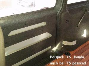 Musterverkleidung B4f Carpet-Filz VW T5 Innenraum