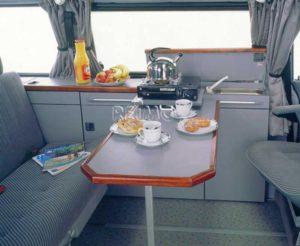 Tischschiene,Tischfuß klappbar Silber Höhe 72 cm groß Reimo 57070 Bus4fun SKU10186