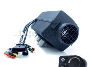 Planar 2D BASIC Diesel-Luftstandheizung 2kW 12V mit Drehregler und Abgasschalldämpfer