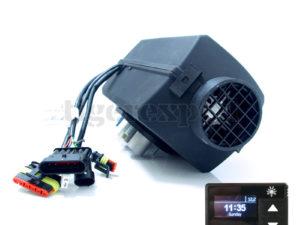 Planar 2D DELUXE Diesel-Luftstandheizung 2kW 12V inkl. OLED-Display, Abgasschalldämpfer & Versand