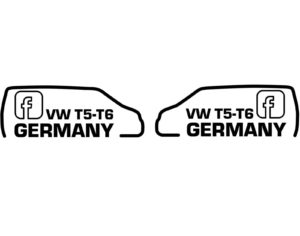 Aufkleber VW T5-T6 Germany bus4fun.de