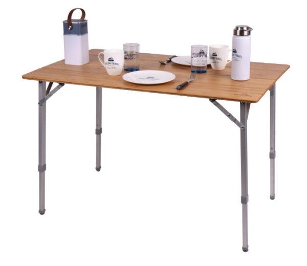 Bambus-Tisch HOLIDAY TRAVEL, Aluminiumgestell, 100x65x42 Reimo Bus4fun.de 9105491
