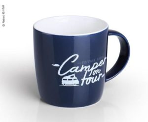 Becher »Camper on Tour« aus hochwertigem New Bone China für 340ml Reimo Bus4fun.de 95801