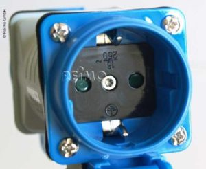 1xSchukostecker auf 2xSchukokupplung Verlängerungskabel 230V 1,5m 3x2,5mm² Reimo Bus4fun.de 82006 SKU 10156