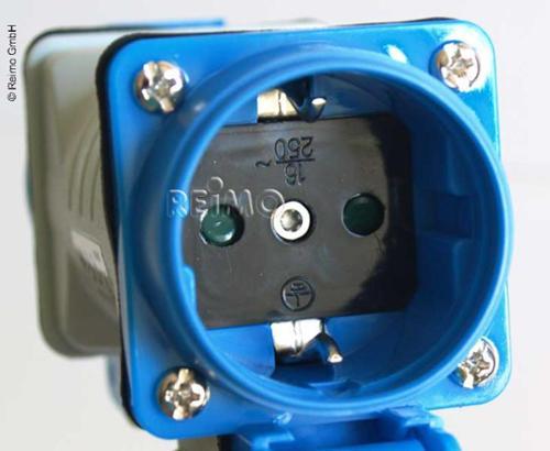 Verlängerungskabel 230V 1,5m 3x2,5mm² 1xSchukostecker auf 2xSchukokupplung Reimo Bus4fun.de 82006
