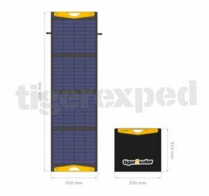 """Solartasche 160Wp """"big tiger 160/USB truck edition"""" mit 2xUSB und Kabelsatz (12V/24V-geeignet, ETFE-Oberfläche) tigerexped bus4fun.de"""