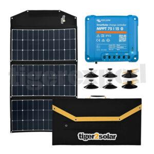 Solartasche 180Wp mit MPPT Laderegler und Zubehör - Schattenparker-Kit big tiger180 tigerexped Bus4fun.de